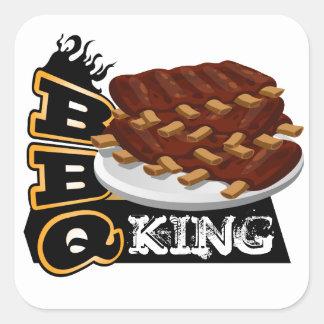 BBQ KING! SQUARE STICKER