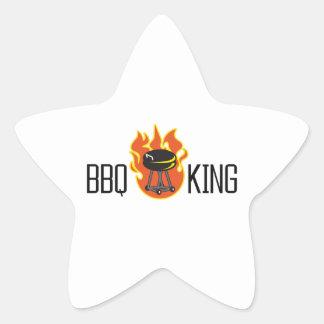 BBQ KING STAR STICKER