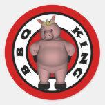 BBQ King Stickers