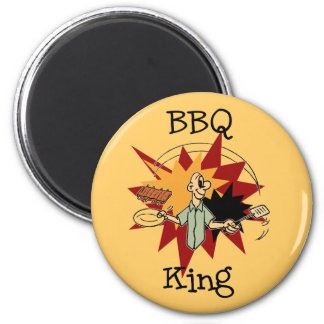 BBQ King T-shirts and Gifts 2 Inch Round Magnet