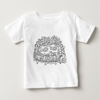 BBQ King with Caxton dinner scene Baby T-Shirt
