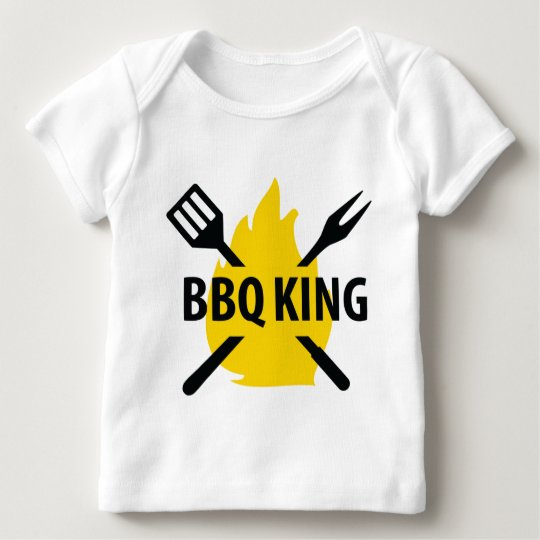 BBQ King with flame icon Baby T-Shirt