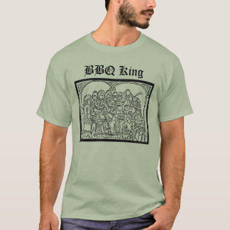 BBQ King with medieval feast scene T-Shirt