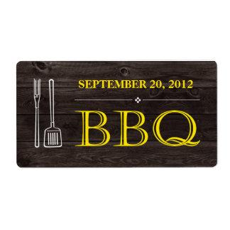 BBQ Label Shipping Label