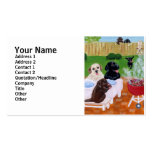 BBQ Labradors Painting Double-Sided Standard Business Cards (Pack Of 100)