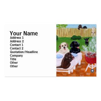 BBQ Labradors Painting Business Card Templates
