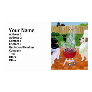 BBQ Labradors Painting Business Card Template