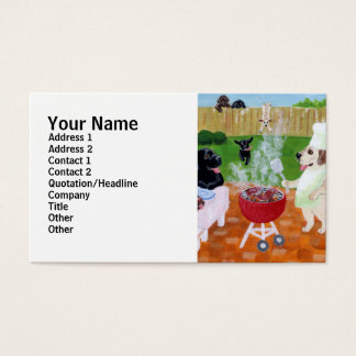 BBQ Labradors Painting Business Card