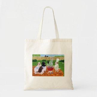 BBQ Labradors Tote Bag