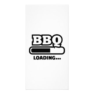 BBQ loading bar Photo Card Template