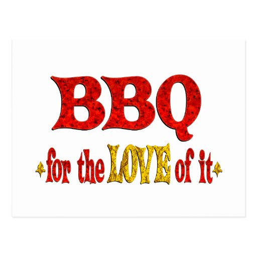 BBQ Love Postcard