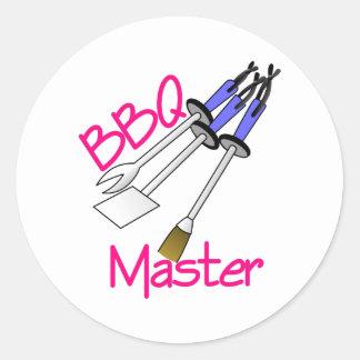 BBQ Master Classic Round Sticker