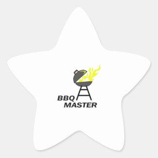 BBQ MASTER STAR STICKER