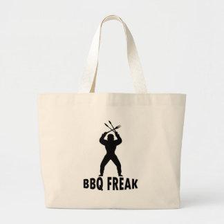 Bbq-monstruo con los cubiertos bolsa tela grande