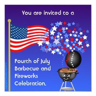 BBQ 'n' Fireworks Invitation