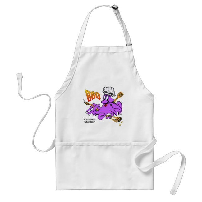 BBQ Octopus Adult Apron