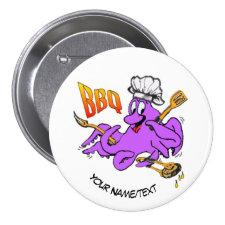 BBQ Octopus Round Button