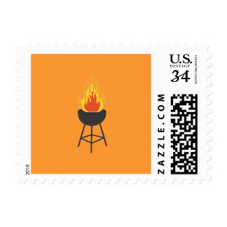 BBQ on Fire Postage