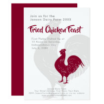 BBQ or Fried Chicken Independence Day Farm Picnic Invitation