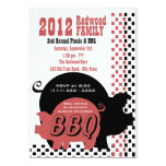 BBQ or Pig Roast Checker 5x7 Paper Invitation Card