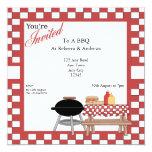BBQ Party 5.25x5.25 Square Paper Invitation Card