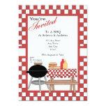 BBQ Party 5x7 Paper Invitation Card
