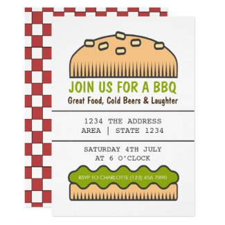 BBQ Party Big Burger Bun Card