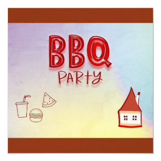 BBQ Party Card