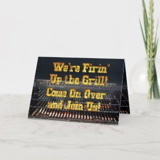 BBQ Party Invitation Greeting Cards