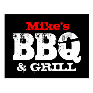 BBQ party invitation postcards | Personalized