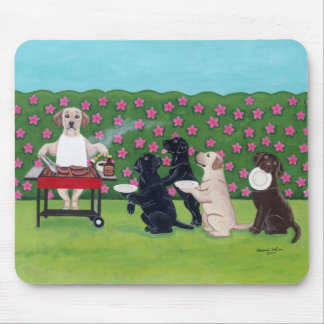 BBQ Party Labs in the Azalea Garden Mouse Pad