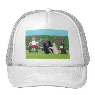 BBQ Party Labs in the Azalea Garden Trucker Hat