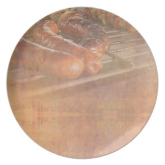 BBQ Party Melamine Plate