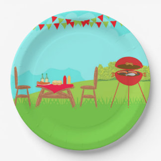 BBQ Party Paper Plate 9 Inch Paper Plate