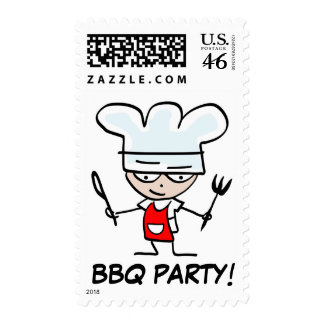 BBQ Party postage stamps