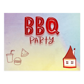 BBQ Party Postcard