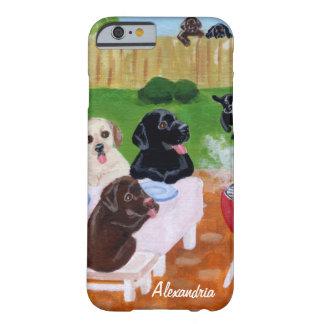 Bbq personalizado Labradors Funda De iPhone 6 Barely There