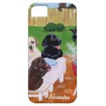 Bbq personalizado Labradors iPhone 5 Cárcasa