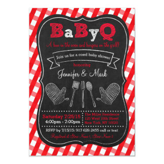 BBQ Picnic Baby Shower Invitations