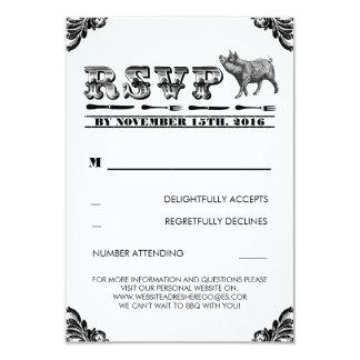 BBQ PIG ROAST RSVP CARDS