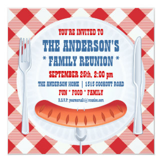 BBQ PINIC FAMILY REUNION INVITATION