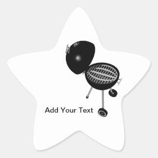 BBQ Pit & Grill Star Sticker