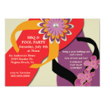 BBQ & Pool Party Flip Flop Invitation-honey