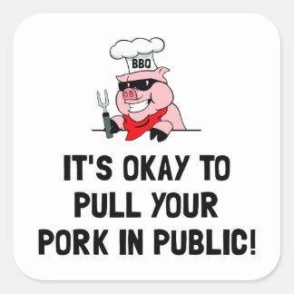 BBQ Pull Pork Square Sticker