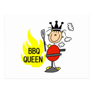 BBQ Queen Postcard