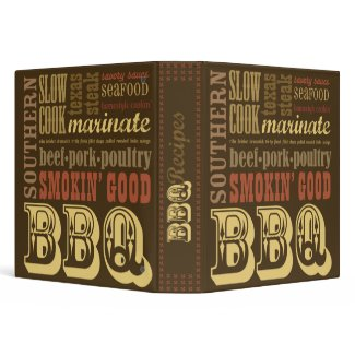 BBQ Recipe Cookbook binder