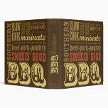 BBQ Recipe Cookbook Vinyl Binders
