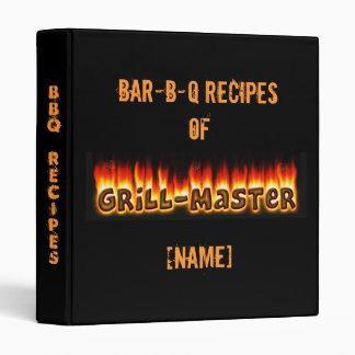 BBQ Recipes 3 Ring Binders
