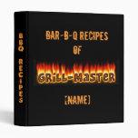 BBQ Recipes Vinyl Binders