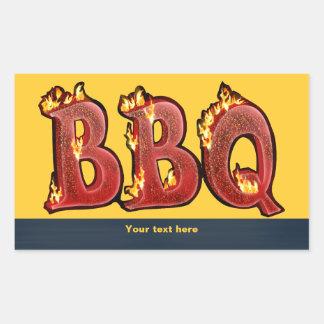 BBQ RECTANGULAR STICKER